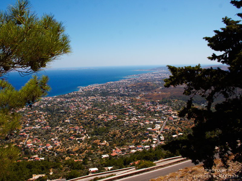 Chios from Mt. Aipos